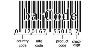 Barcode decoding numeric code Royalty Free Stock Photos