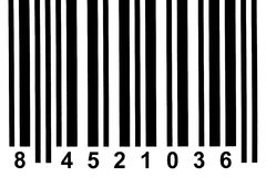 Barcode detail. Close up of a barcode stock photos
