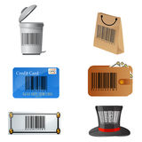 Barcode on different objects Stock Photography