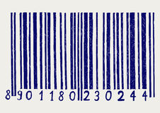 Barcode. Doodle style Royalty Free Stock Photo