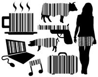 Barcode elements Stock Photo