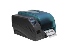 Barcode etykietki drukarka Fotografia Royalty Free