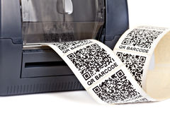 Barcode etykietki drukarka Zdjęcie Stock
