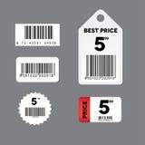 barcode etykietki set Zdjęcia Stock