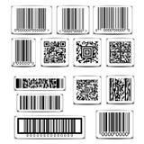 Barcode etykietki ustalony wektor Fotografia Stock