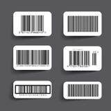 Barcode etykietki ustalony wektor Zdjęcia Royalty Free