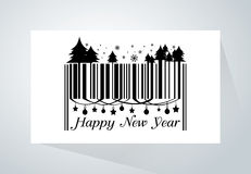 Barcode för lyckligt nytt år royaltyfri illustrationer