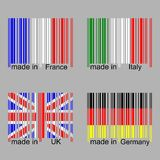 barcode flag Royalty Free Stock Images