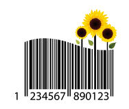 Barcode of flower Stock Image