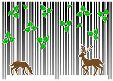 Barcode forest Royalty Free Stock Photography