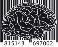 Barcode-Gehirn Stockbild