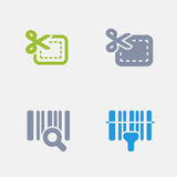 Barcode & Giftcard - Granite Icons Stock Photos