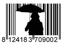 Barcode girl Royalty Free Stock Photography