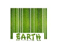 Barcode grass. Royalty Free Stock Photo
