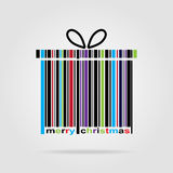 Barcode Happy New Year and Merry Christmas. Royalty Free Stock Image
