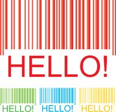 Barcode hello Royalty Free Stock Images