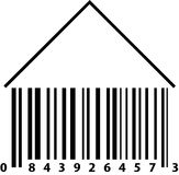 Barcode House. A barcode in the shape of a house Stock Photography
