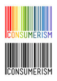 Barcode Icon With Consumerism Letter Inside Royalty Free Stock Photo