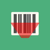 Barcode icon vector Royalty Free Stock Image