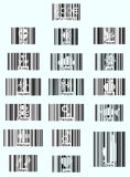Barcode icons. Illustration creative barcode icons, text, vector Royalty Free Stock Photo