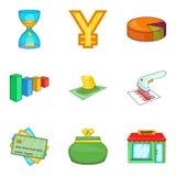 Barcode icons set, cartoon style. Barcode icons set. Cartoon set of 9 barcode vector icons for web  on white background Stock Photo