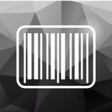 Barcode ikona na poligonalnym tle Fotografia Stock
