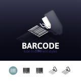 Barcode ikona w różnym stylu ilustracja wektor