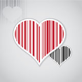 Barcode image with heart symbol Royalty Free Stock Photography