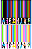 Barcode and kids Stock Image