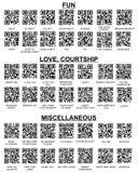 barcode koduje qr czytelnika twój ustalony smartphone Obraz Royalty Free