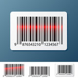 Barcode label. On dark blue Royalty Free Stock Photography
