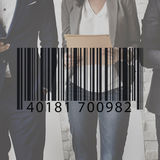 Barcode Label Business People Graphic Concept Stock Photos