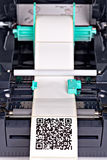 Barcode label printer. Close up barcode label printer Royalty Free Stock Photography