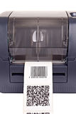 Barcode label printer. Close up barcode label printer Royalty Free Stock Image