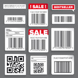Barcode label and sale  set Stock Photos
