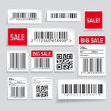 Barcode label and sale  set Royalty Free Stock Images