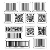 Barcode label set vector Stock Photography