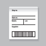 Barcode label shipping  Stock Photo