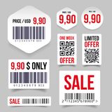 Barcode label tag sale. Vector Royalty Free Stock Photo