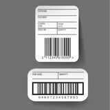 Barcode label template vector Stock Photos