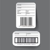Barcode label template vector Stock Photos