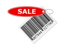 Barcode with labeling. Bar code with labeling. isolated on with background Royalty Free Stock Photo