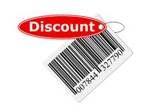 Barcode with labeling. Isolated on with background Stock Images