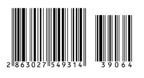 Barcode. Large bar code on a white background stock illustration