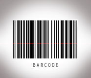 Barcode with laser line Stock Photos