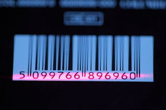 Barcode with laser strip Royalty Free Stock Photos