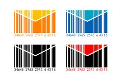 Barcode letters Royalty Free Stock Images