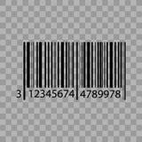 Barcode lokalisiert auf transparentem Hintergrund lizenzfreie abbildung