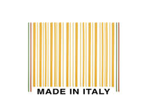 Barcode made with italian spaghetti. Barcode made ​​with italian spaghetti on the white background Stock Photo