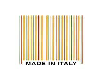 Barcode made with italian spaghetti. Barcode made ​​with italian spaghetti on the white background Stock Images